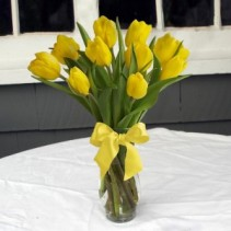 Lovely in Lemon vase arrangement