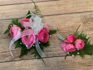 Lovely In Pink Prom Wrist Corsage  in Roanoke, VA | Flowers By Eddie