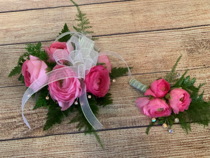 Lovely In Pink Prom Wrist Corsage