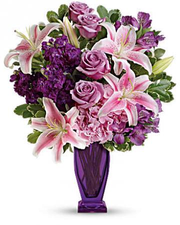 Lovely Lavender and Pink Bouquet Vase Arrangement