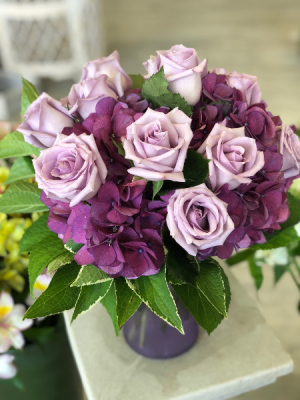 Lovely Lavender Vase Arrangement in Mattapoisett, MA | Blossoms Flower Shop
