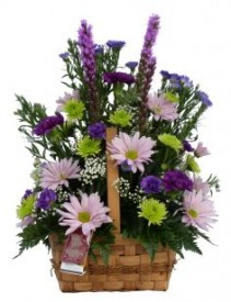 LOVELY LAVENDER Basket Arrangement