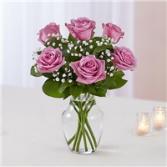 Lovely Lavender  Half Dozen Rose Vase