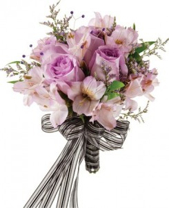 LOVELY LAVENDER HANDHELD BOUQUET in Rolling Meadows, IL | ROLLING MEADOWS FLORIST