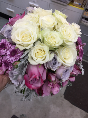 Lovely Lavender Handheld Nosegay in Berwick, LA | TOWN & COUNTRY FLORIST & GIFTS, INC.