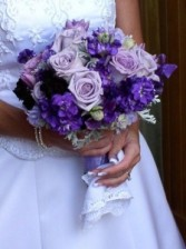 Lovely Lavender & Purple Wedding Bouquet