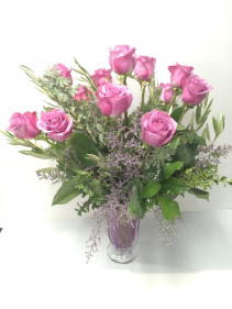 Lovely Lavender Rose Arrangement