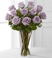 Lovely Lavender Rose Vase