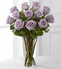 Lovely Lavender Rose Vase