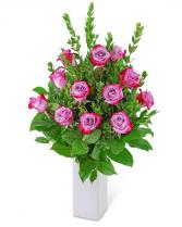 Lovely Lavender Roses (12) Flower Arrangement
