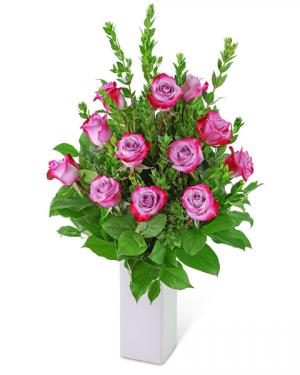 Lovely Lavender Roses (12) Flower Arrangement in Nevada, IA | Flower Bed
