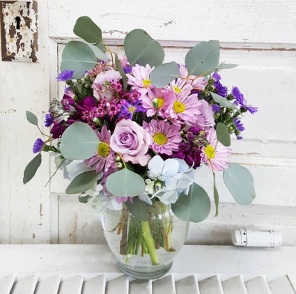 Lovely Lavender Vase Arrangement