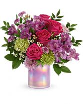 Lovely Lilac Cylinder Arrangement