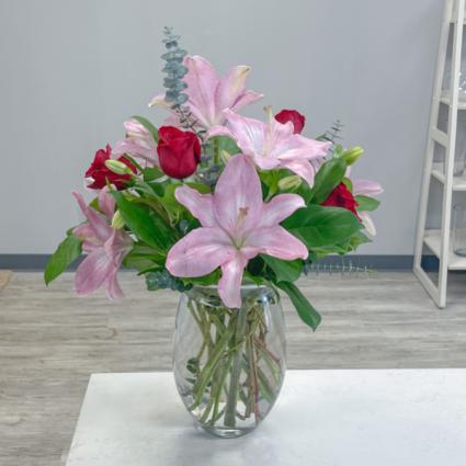 Lovely Lilies Vase Arrangement