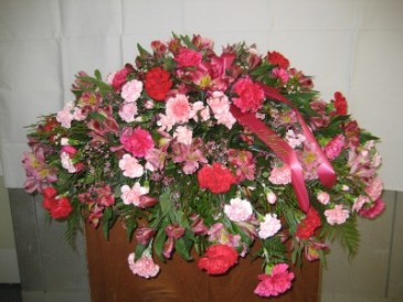 Lovely mix of Pink Casket Spray Casket Spray