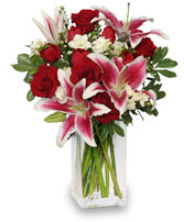 Lovely  Mixed fresh flowers, stargazer, spray roses