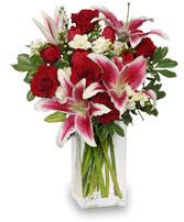 Lovely  Mixed fresh flowers, stargazer, spray roses