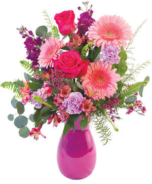Lovely Pinks Bouquet in Gig Harbor, WA | GIG HARBOR FLORIST TM- FLOWERS BY THE BAY LLC