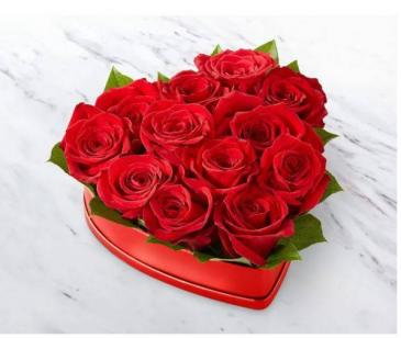 Lovely Red Rose Heart ™ Box Floral Arrangement