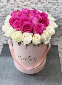 Lovely Red Roses Flower Box