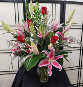 Lovely Roses and Lilies Signature Arrangement