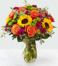 Lovely Sunset vase in Sunrise, FL | FLORIST24HRS.COM