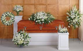Lovely White Funeral Package Six Piece Funeral Package in White Flowers in Bethel, CT | BETHEL FLOWER MARKET OF STONY HILL