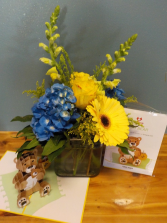 LovePop Baby Boy flowers and card