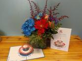 LovePop Birthday Birthday arrangement with LovePop card
