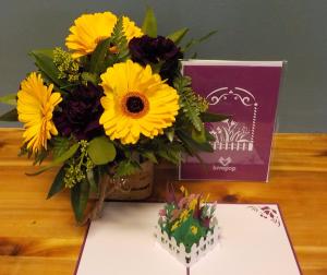 LovePop Birthday Birthday arrangement with LovePop card in Abbotsford, BC   BUCKETS FRESH FLOWER MARKET