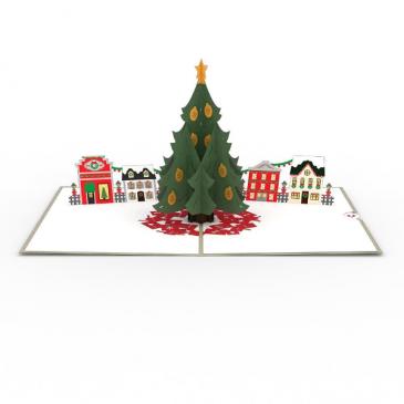 Lovepop™ - Christmas Tree Village Popup Christmas Card