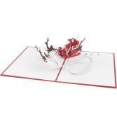 Lovepop ™ - Santa Sleigh Pop up Christmas Card