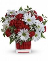 Lover's Delight Cube Vase Arrangment