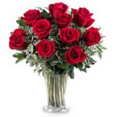 Lovers Red Roses Rose Vase