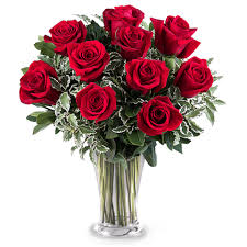 Lovers Red Roses Rose Vase in Nassawadox, VA | Florist By The Sea