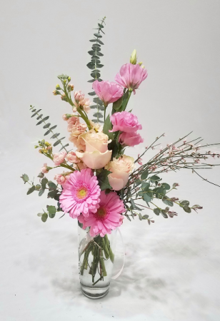 Love's Blush Vase Arrangement