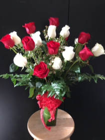 Love's Divine Tall, Long-Stemmed Roses (70-CM Red, 60-CM White)