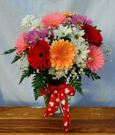 Loves Me, Loves Me Not Vase Arrangement
