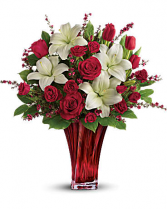 Loves Passion Fresh Floral Arrangement