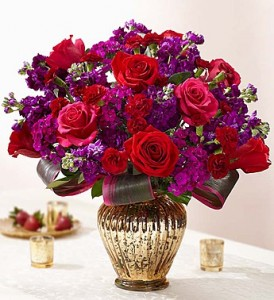 Love's Vibrant Beauty Luxurious Gathering of Fragrant Blooms in Bronze Vase