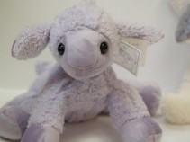 Lovey, the Lavender lamb plush/heat therapy