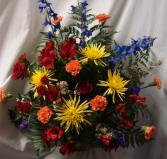 """Loving Blooms"" Arrangement of Bright Mixture of  Flowers."