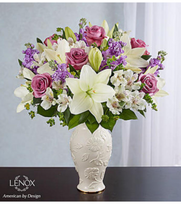 Loving Blooms Lenox Lavender and white
