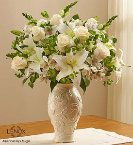 Loving Blooms™ Lenox® White Fresh Arrangement