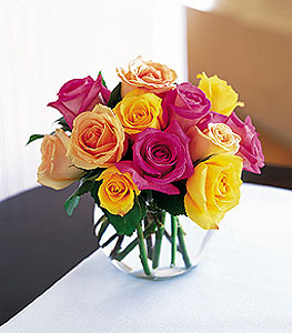 Loving Colors Assorted Roses in Milford, PA | Myer The Florist Inc.