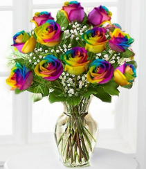 Loving Colors Rainbow Roses