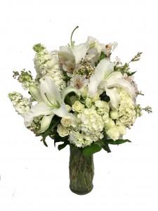 Loving Elegance All White Arrangement