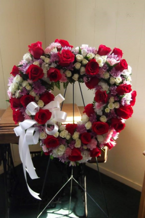 Loving Embracement FUNERAL EASEL in Venice, FL | ALWAYS AN OCCASION FLORIST & DECOR