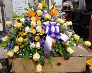 Loving Farewell Casket Spray in Port Huron, MI | CHRISTOPHER'S FLOWERS