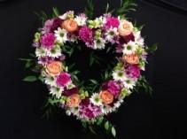 Loving Farewell Heart Wreath Funeral Flowers